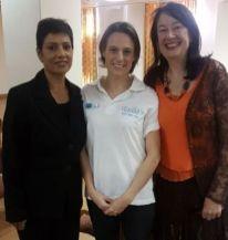 Poonitha Naidoo MERAN diagnostic radiography, radiology & oncology, Lisa Strydom CANSA, Mary De Haas MERAN social anthropologist