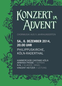 "Plakat ""Konzert im Advent"""