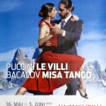 "Plakat Klangvokal ""Li Villi & Misa Tango"""