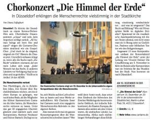 Konzertankündignung, NRZ, 3.12.16