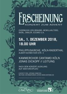 """Plakat """"Erscheinung - Konzert zum Advent"""""""