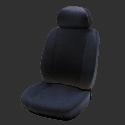 Black Pair Mini Cab Fabric Waterproof Air Bag Priemium Car Seat Cover Protector