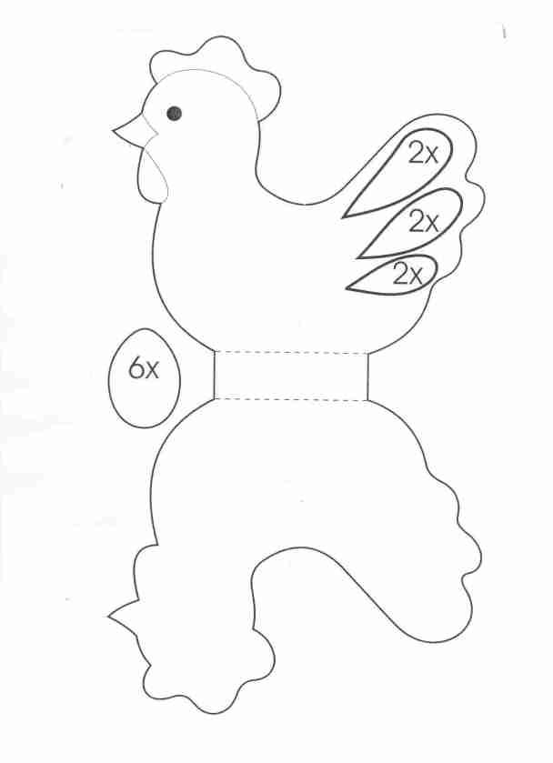 Cartamodello gallinella pasquale
