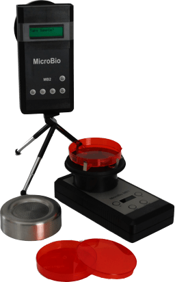 Both standard models of MicroBio bioaerosol samplers