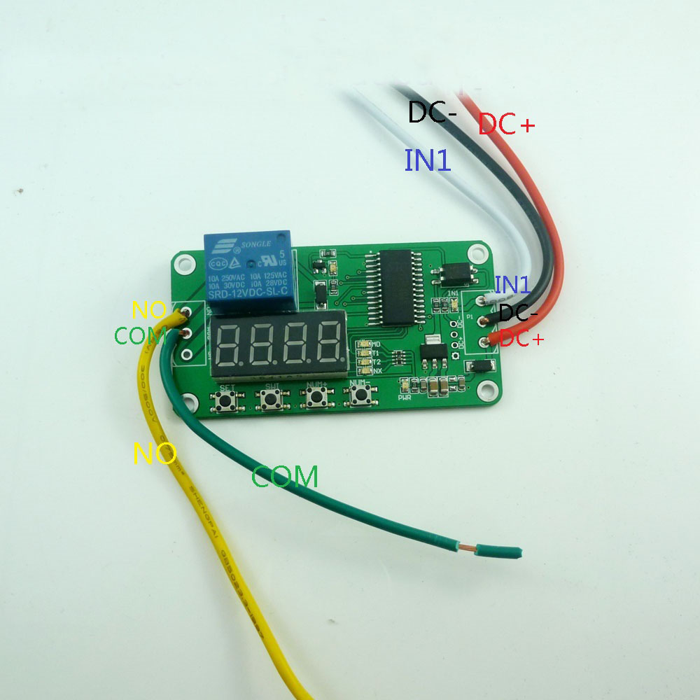 medium resolution of dc 12v delay relay cycle timer switch module for plc led solar charger motor ptz