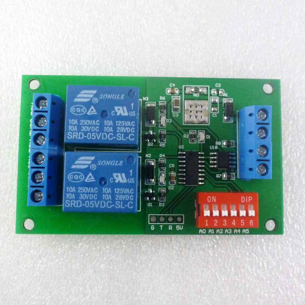 medium resolution of dc 5v 2 channel rs485 relay board uart serial port switch module modbus at command control