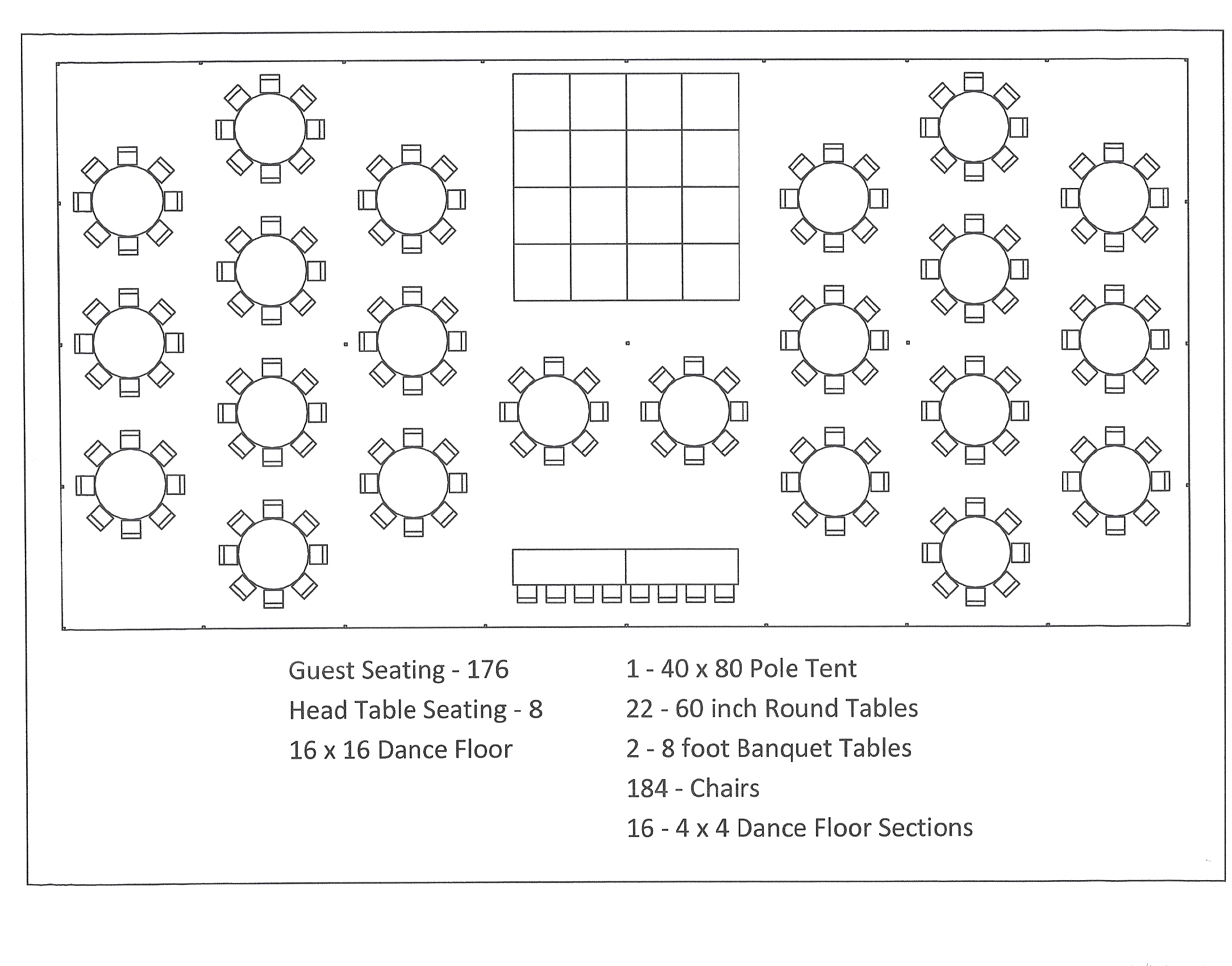 banquet table set up diagram central heating programmer wiring hall two ineedmorespace co 40 x 80 pole tent seating arrangements canton canopy food diagrams template