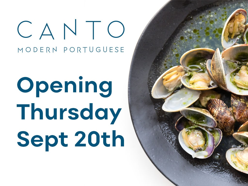 Canto opens September 20th 2018