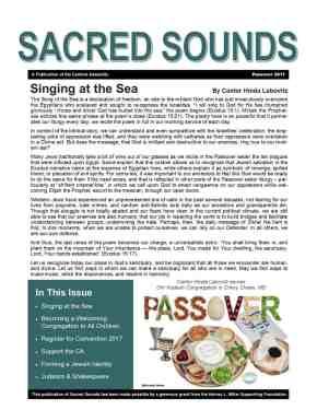 Passover 2017 newsletter