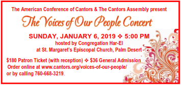 The Voices of Our People Concert, January 6, 2019 in Palm Desert, CA