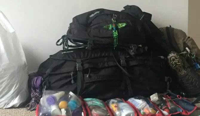 Long-term Travel Packing List, First Attempt