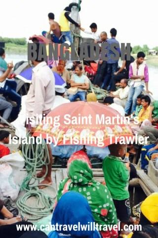 Visiting Saint Martin's Island by Fishing Trawler