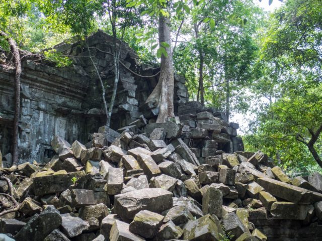 Beng Melea Temple - Stones and Vegetation - Angkor Archaeological Park in Siem Reap, Cambodia
