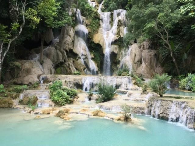 Kuang Si Waterfall, near Luang Prabang in Laos