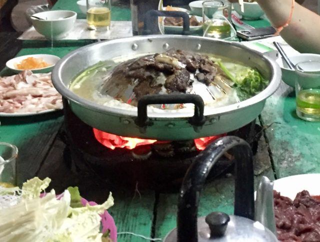 Sin Dad traditional Lao barbeque in Luang Prabang, Laos