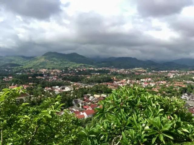 View from Mount Pou Si in Luang Prabang, Laos