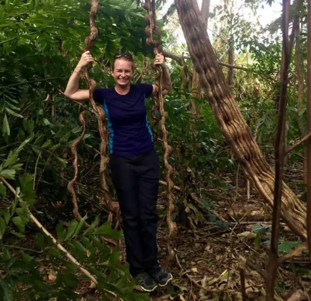 Twisted vine swing in Phong Nha-Ke Bang National Park, Vietnam