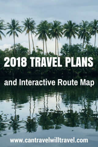 2018 Travel Plans With Interactive Route Map