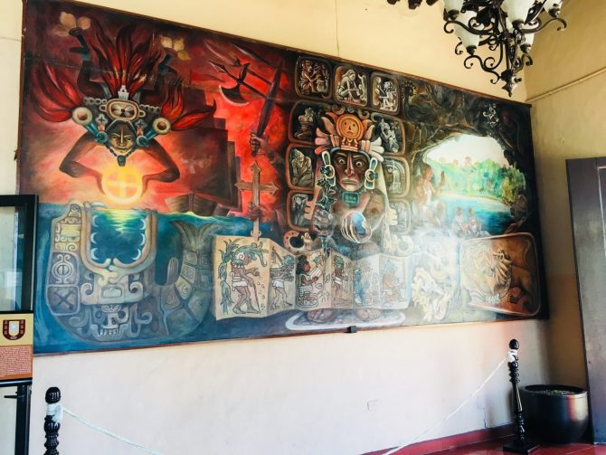 Palacio Municipal Murals in Valladolid, Mexico