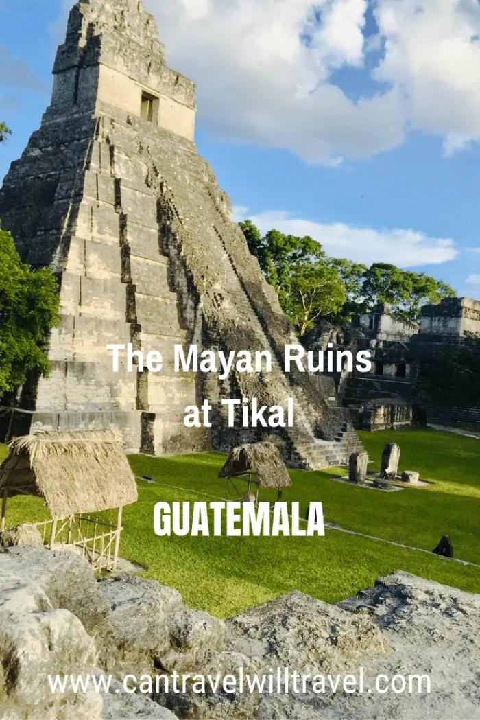 The Mayan Ruins of Tikal, Guatemala Pin1