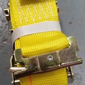 2350-12-SE 2IN X 12FT RATCHET STRAP W/ SPRING E FITTING