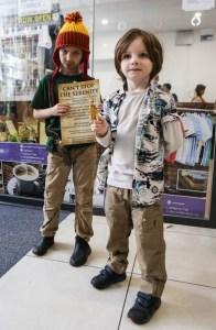 2 boys at a con in costume
