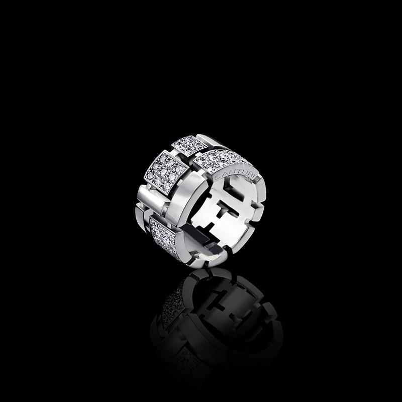Cubism Pav 233 Diamond Ring Alternating Diamond In White Gold