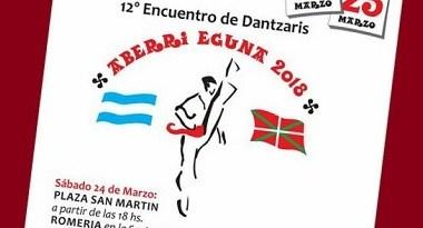 El Encuentro de Dantzaris de Aberri Eguna en Cañuelas será el 24 y 25 de marzo