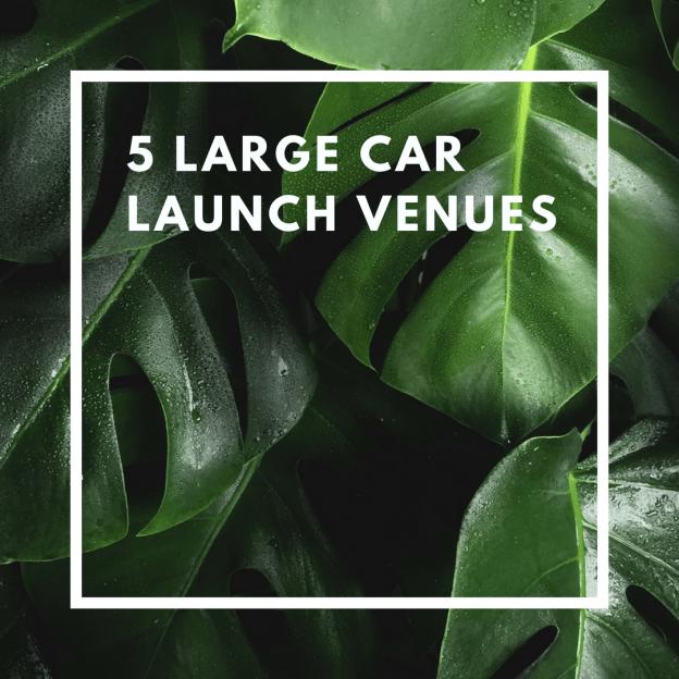 5 large car launch venues