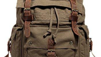 Men's Women Vintage Canvas Backpack Rucksack School Bag Satchel ...