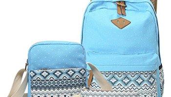 380b1122bf09 abshoo Canvas Dot Backpack Cute Lightweight Teen Girls Backpacks School  Shoulder Bags (Sky Blue)