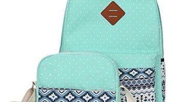 9e87c9d4515b Viniolve Canvas Dot Backpack Cute Lightweight Bookbag School Shoulder Bags  for Teen