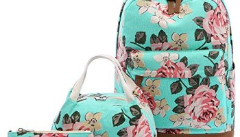 Abshoo Floral Backpacks For Girls Canvas School Bookbags Teen Girls  Backpacks With Lunch Bag (Floral 1c0da30e7f
