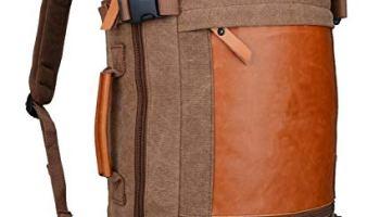 1193deae37 WITZMAN Men Vintage Canvas Rucksack Travel Duffel Backpack Retro Hiking Bag  2063 (22inch Brown)