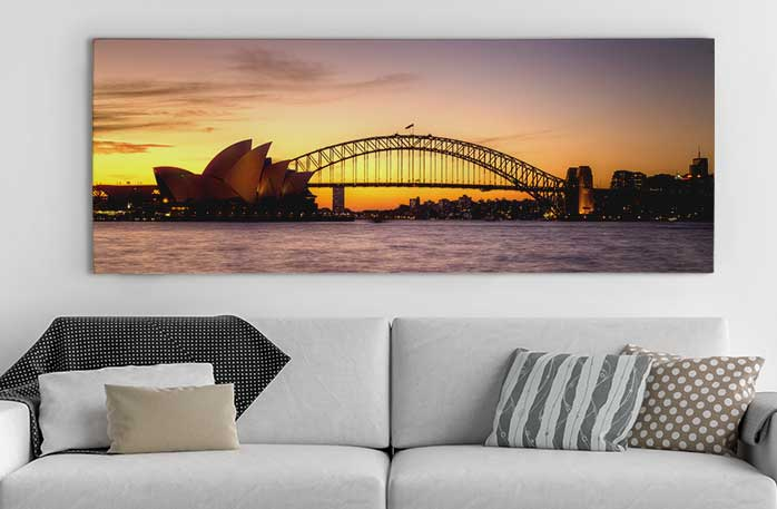 panoramic canvas prints custom