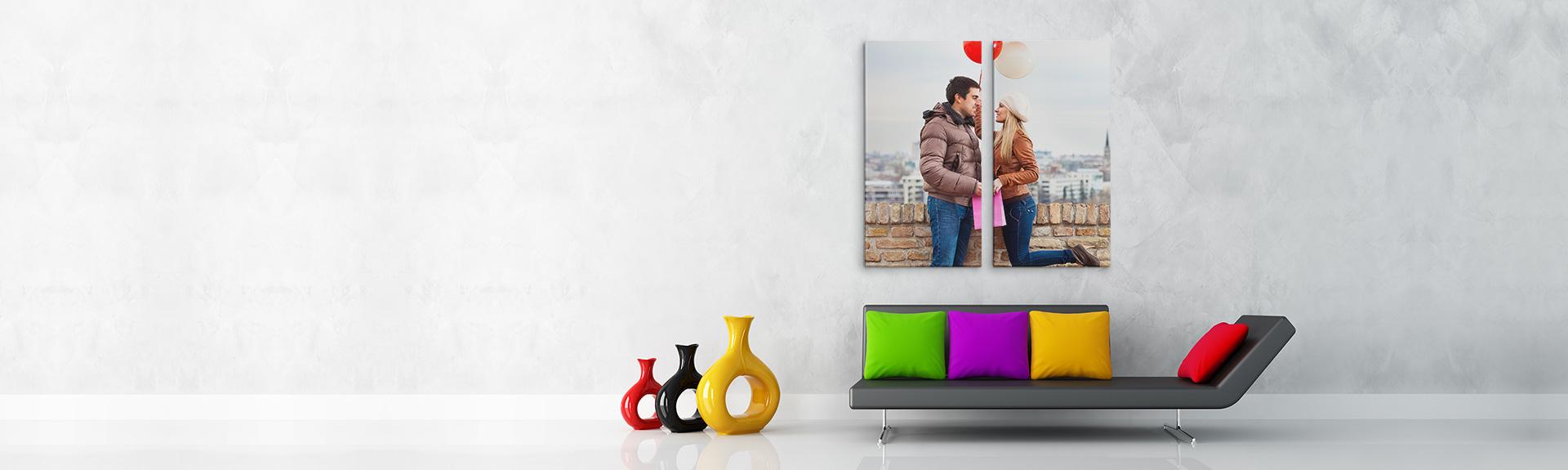 split canvas prints custom