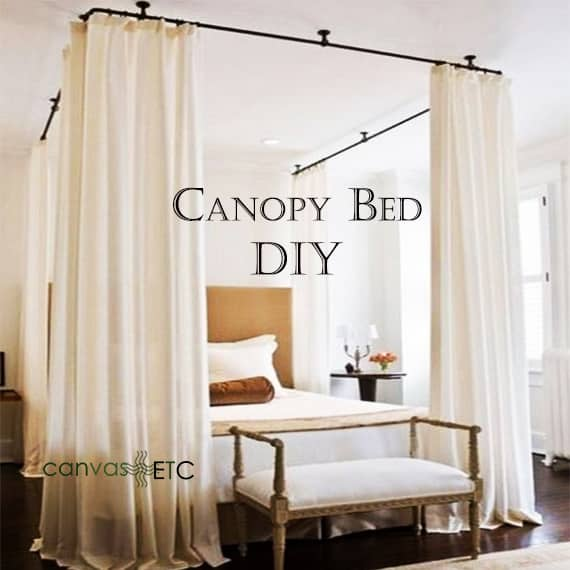 canopy bed curtains diy add style