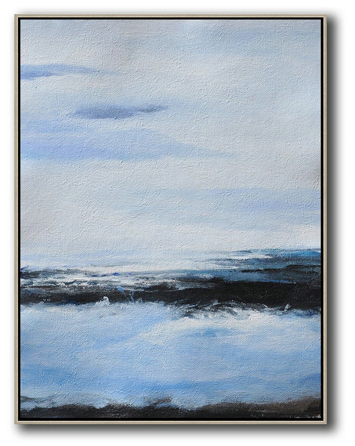 oversized abstract landscape painting