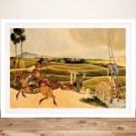 Buy Samurai Riding On Horses Canvas Wall Art Flinders Park Adelaide Au