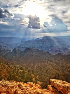 Pic of summer monsoons at the Grand Canyon