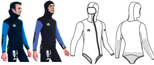 VadeRetro Long John and Vest (5mm neoprene)