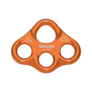 Edelrid Mini Rig. Small, lightweight aluminium rigging plate suitable for extending from one to three anchor points.