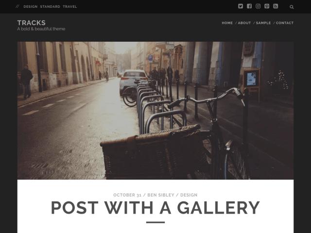 Tracks wordpress theme for blogs