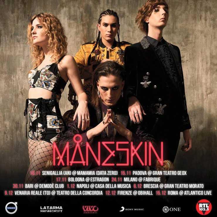 Maneskin Tour 201819  Date  Concerti  Biglietti