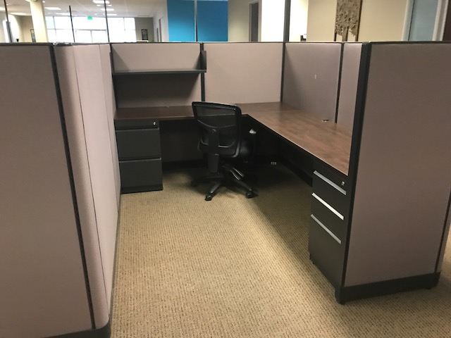 Trendway Modern Mocha Laminate Surface Cubicles CA