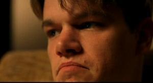 matt damon sad face