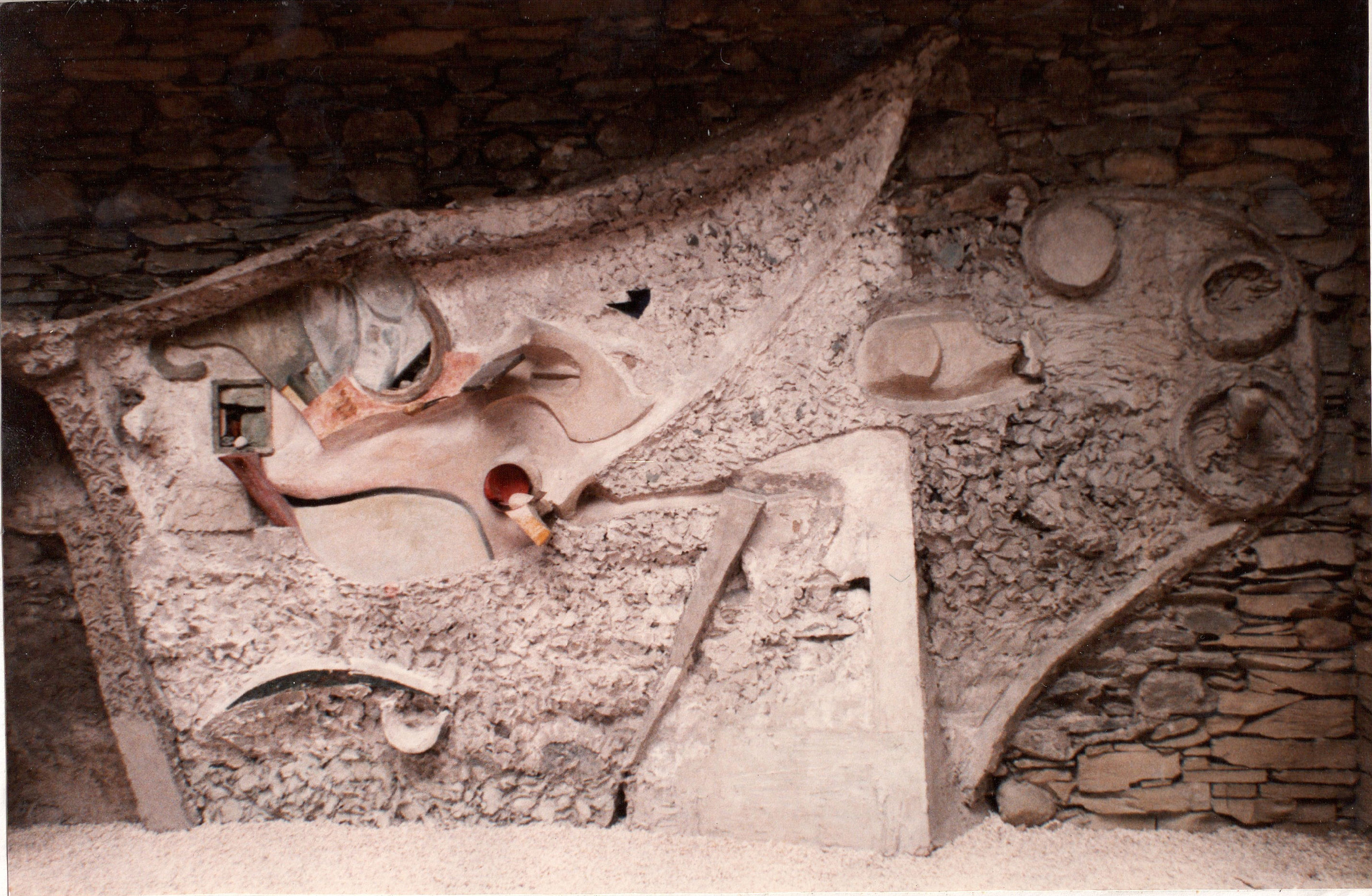 The last fragment of the Merz Barn, by Kurt Schwitters, Hatton Gallery, University of Newcastle.