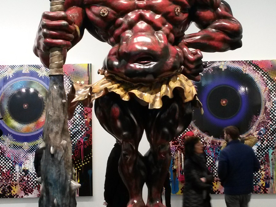 """Takashi Murakami.    Gagosian New York – """"In the Land of the Dead, Stepping on the Tail of a Rainbow."""""""