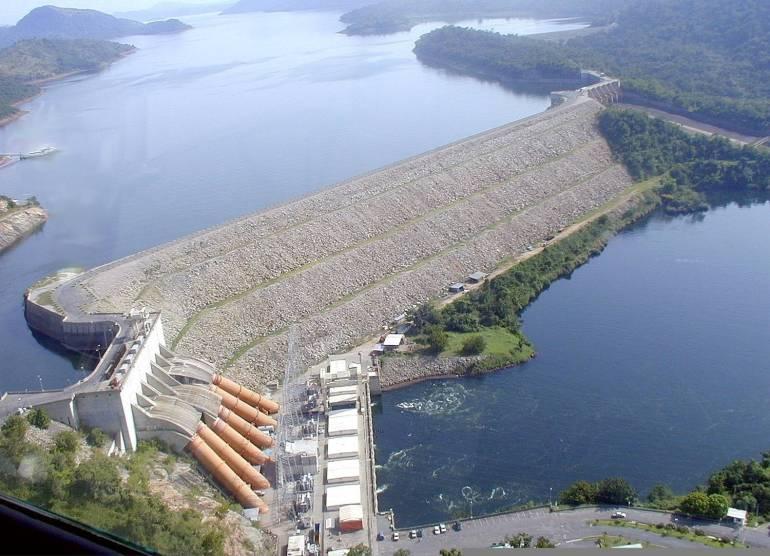 The Abosombo Dam The Voltar River Ghana