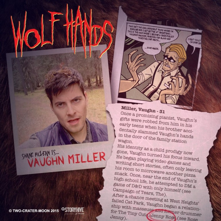 The titular wolf hands.